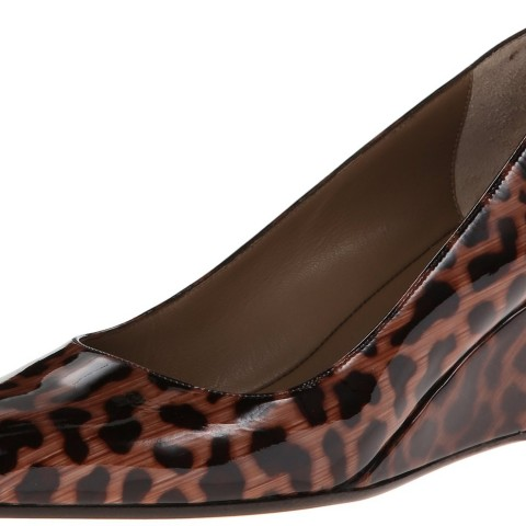 Anyi Lu Kelly Wedge Pump Leopard Color