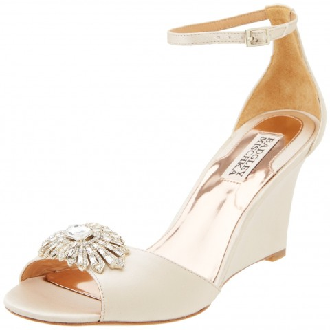 Badgley Mischka Harmony Wedge Sandal Natural