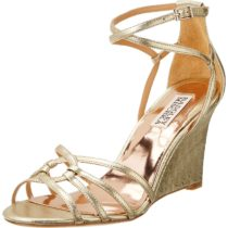 Badgley Mischka Hedy II Wedge Sandal Platino