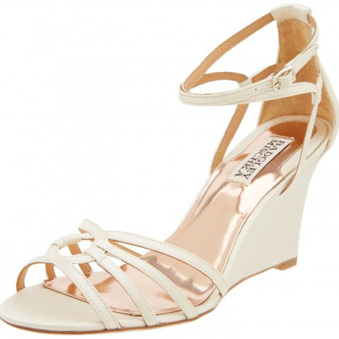 Badgley Mischka Hedy Wedge Sandal Ivory