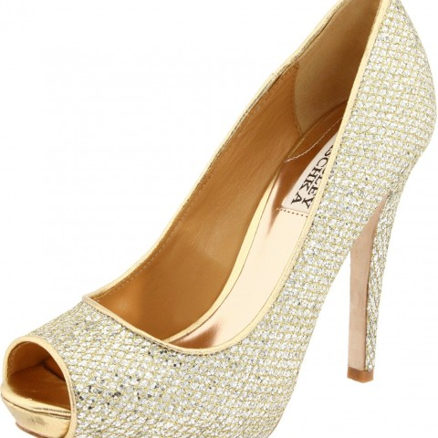 Badgley Mischka Humbie II Pump Gold Glitter