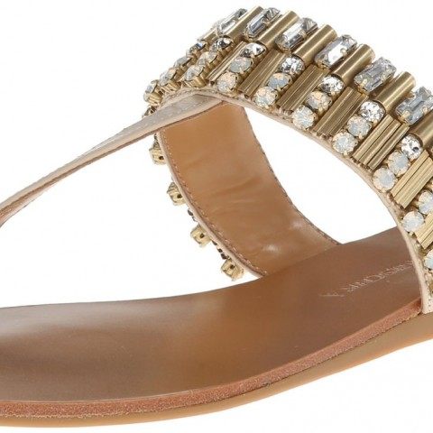 Badgley Mischka Kaitlyn Toe Ring Sandal Beige