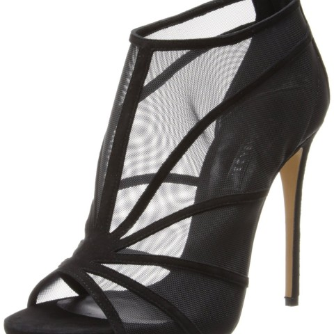 Casadei Open Toe Mesh High Heeled Sandal Nero Color