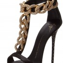 Giuseppe Zanotti T-Strap Chain High Heel Dress Sandal