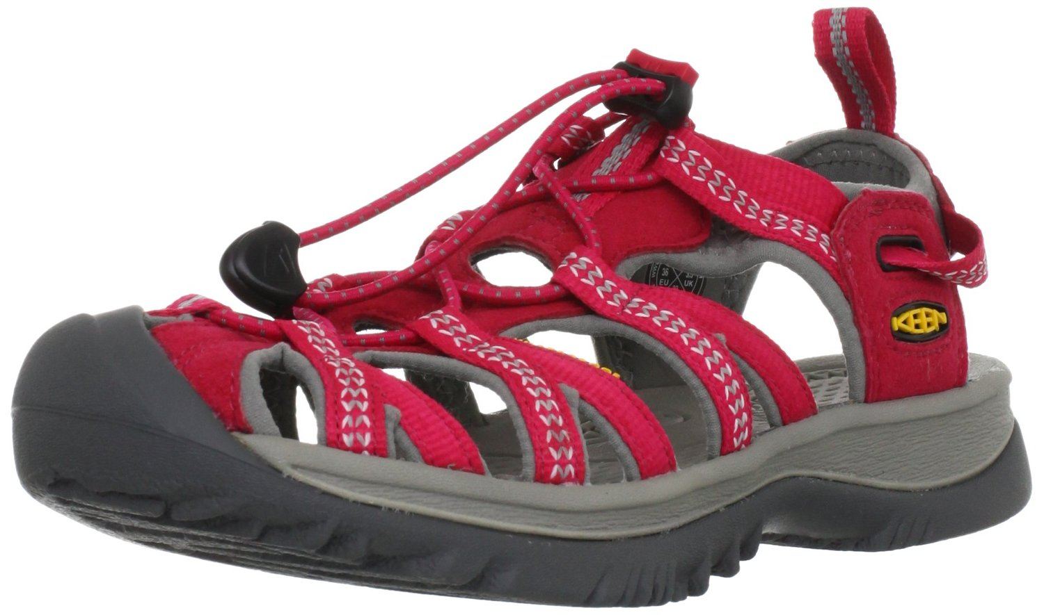 016321af0d7e KEEN Whisper Comfort Sandal Barberry Neutral Gray Color
