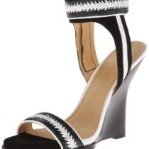 L.A.M.B. Fina Wedge Sandal Black
