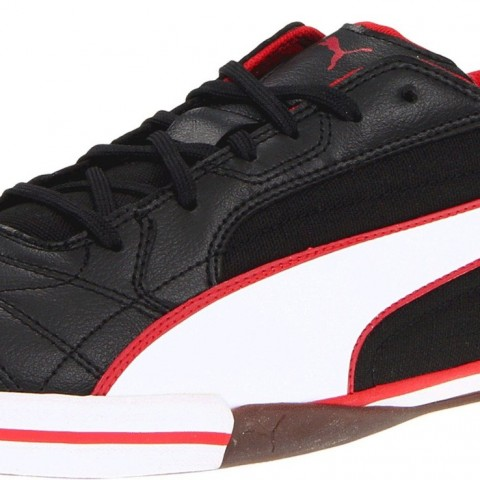 PUMA 3Momentta Vulcanized Sala Soccer Boots Black White Ribbon Red Color