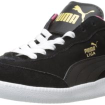 PUMA Liga Suede Classic Soccer Boots Black Beetroot Purple Color