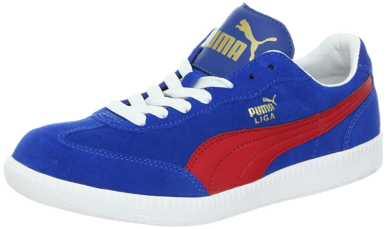 Puma White Blue Red Soccer Shoes