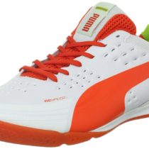 PUMA evoSPEED 1.2 Sala Soccer Boots White Cherry Tomato Color