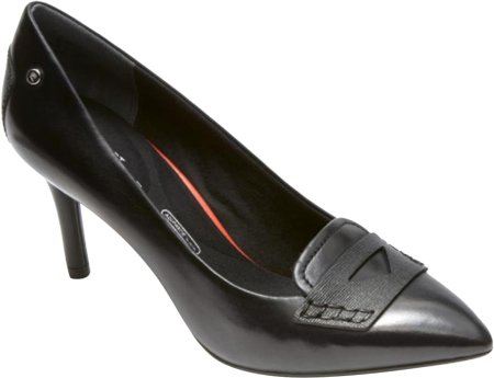 Rockport Total Motion 75mm Pointy Penny Dress Pump Black Color