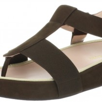 Taryn Rose Adam Comfort Sandal Teak Brown Color
