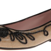 Taryn Rose Bubka Ballet Flat Boots Natural Black Color