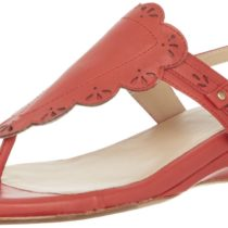 Taryn Rose Kingston Comfort Sandal Coral Red Color