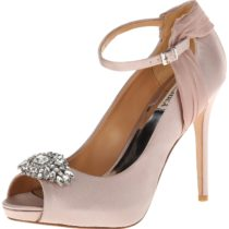 Badgley Mischka League Platform Pump Clay Color