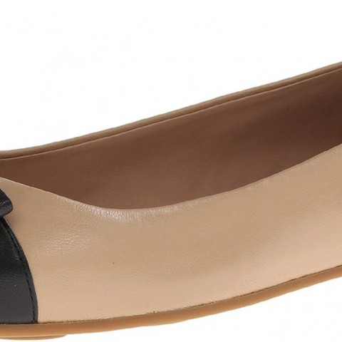 Marc Jacobs Ballet Flat Shoes Nude-Black Color