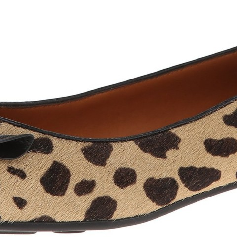 Marc Jacobs Mouse Spotted Ballerina Ballet Flat Shoes Leopard Color