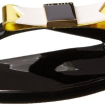 Ted Baker Caszia Flip Flop Flats Black Color