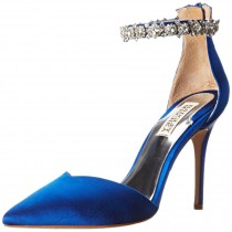 Badgley Mischka Flash Special Occasion Dress Pump Sapphire Blue Color Satin