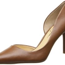 Jessica Simpsons Lacewell DOrsay Comfort Pump Burnt Umber Brown Color