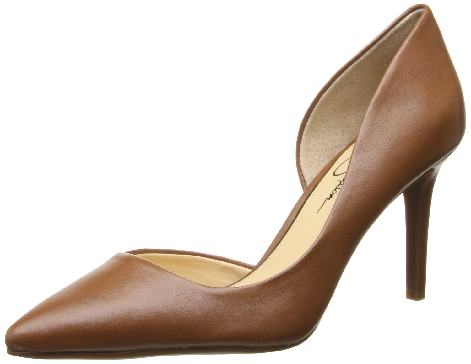 abd486633a Jessica Simpsons Lacewell DOrsay Comfort Pump Burnt Umber Brown Color