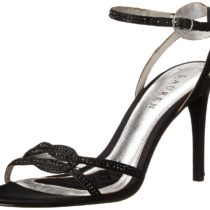 Ralph Lauren Stephanie Lauren High Heel Dress Sandal Black Satin Color