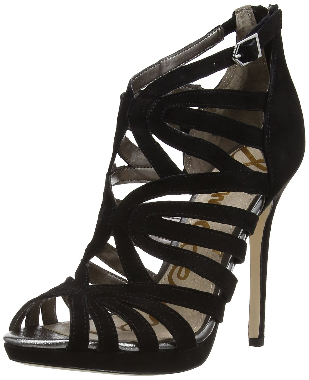 e6222be8c0e429 Sam Edelman Eve High Heel Dress Sandal Black Color