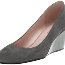 Taryn Rose Kathleen Wedge Pump Charcoal Color