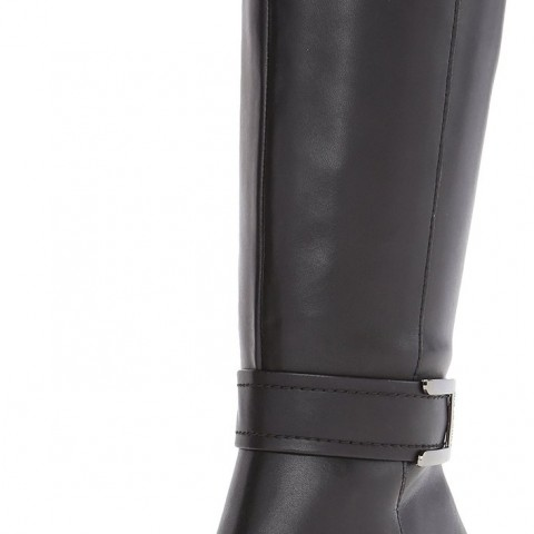 AK Anne Klein Cuthbert Synthetic Knee High in Black Color