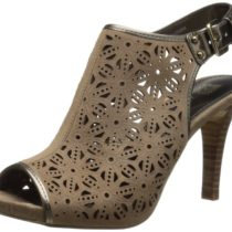 AK Anne Klein Odile Nubuck Dress Pump in Taupe Color