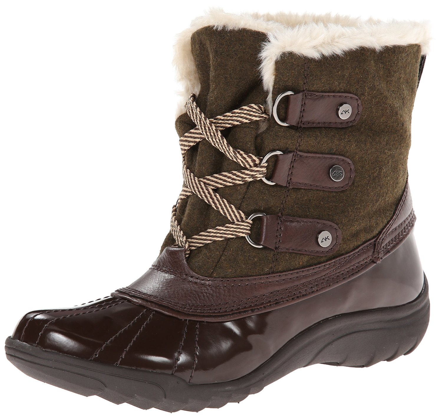 separation shoes factory price outlet store sale Anne Klein Sport Galenka Fabric Ankle High Boot
