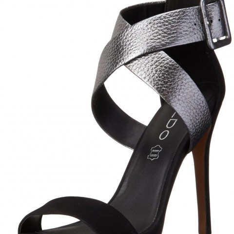 Aldo Nippers Sandal Platform Pump in SilverBlack Color