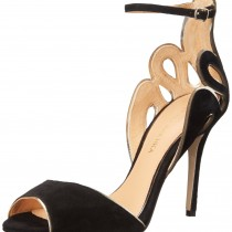 Badgley Mischka Franki Dress Sandal in BlackGold Color