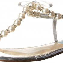 Blue by Betsey Johnson SB-Pearl Flip Flop in Silver Metal Color