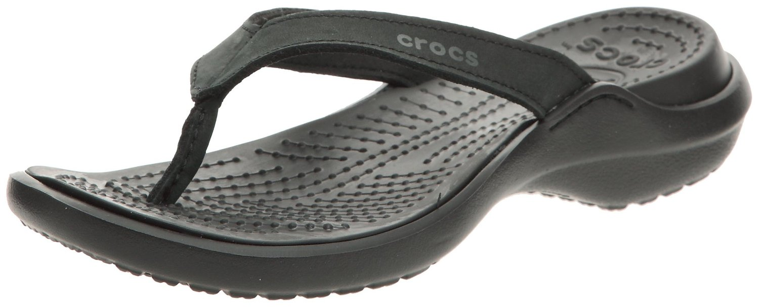 1a8c0642c1829 Crocs Capri IV Flip-Flop in BlackBlack Color