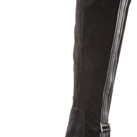 Donald J Pliner Nima Riding Boot in Black Oily Suede Color