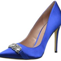 Enzo Angiolini Feeney Fabric Dress Pump in Blue Color