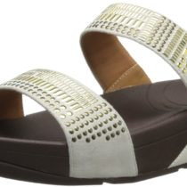 FitFlop Aztec Chada SD Dress Sandal in Urban White Color