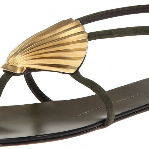 Giuseppe Zanotti E50096 Dress Sandal in Cam Militare Color