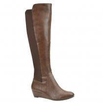 Jessica Simpson Joline Riding Boot in Bourbon SyntheticScuba Fabric Color