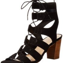 LOEFFLER RANDALL Thea Lace Up Dress Sandal in Black Color