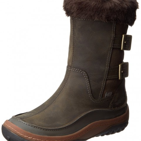 Merrell Decora Chant Waterproof Winter Boot in Falcon Color