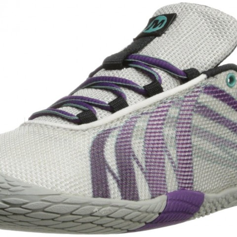 Merrell Vapor Glove Trail Running Shoe in White Purple Color