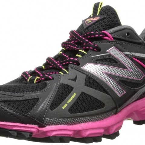 New Balance WT610 Trail Running Shoe in Black Pink Color