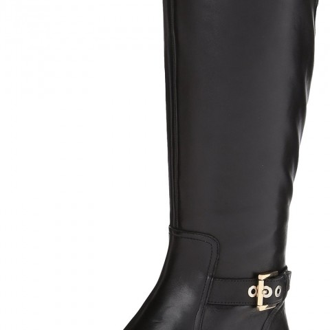 Nine West Bringit Riding Boot in Black Color