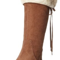 Nine West Daring Knee-High Boot in Dark Brown Color