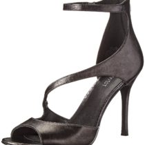 Nine West Festivitie Metallic Dress Sandal in Pewter Color