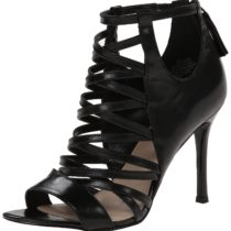 Nine West Funkfresh Leather Dress Sandal in Black Color