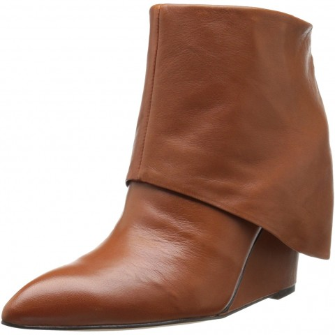 Nine West Hissyfit Boot in Dark Brown