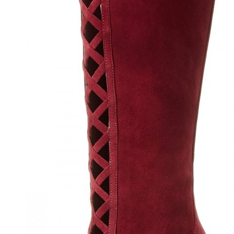 Nine West Jacobe Motorcycle Boot in Wine Color